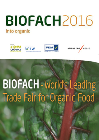 BIOFACH2016 – The Trade Fair for Organic Food, 10-13 February 2016 // Nuremberg, Germany