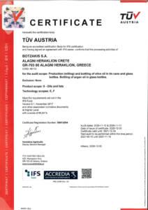 IFS 2020 - Certificate for BOTZAKIS - CRETA OIL